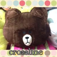 bantal brown line