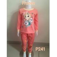 Setelan piyama baju tudur anak perempuan Frozen (P241)