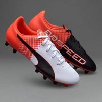 Sepatu Bola Puma Evospeed 5.5 Fg Red/White/Black Original