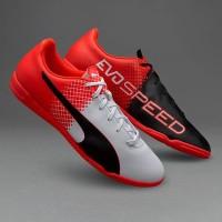 Sepatu Futsal Puma Evospeed 5.5 Fg Red/White/Black Original