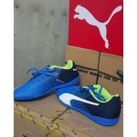 Sepatu Futsal Puma Evospeed Gala Graphic Blue/White Original 100%