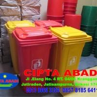 Tempat sampah fiber dorong / Tempat sampah fiber roda
