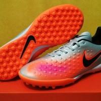 sepatu futsal nike magista opus II silver orange  turf grade ori impor