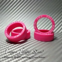 Rep Tamiya 95080 Tires Super Hard / Ban XL Marking Pink (BMXL03)