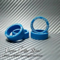 Rep Tamiya 95080 Tires Super Hard / Ban XL Marking Blue (BMXL02)