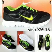 sepatu nike free hitam hijau