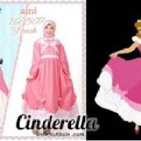 Baju Muslim Anak Karakter Princess Cinderella Aini AN 160507