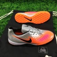 sepatu futsal nike magista opus II silver orange grade ori import