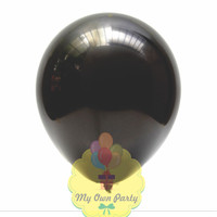 Balon Metalik Hitam 12 Inch