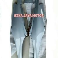 Cover Body Samping Supra Fit New Hitam dan Silver