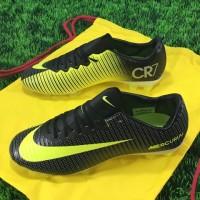 sepatu sepak bola nike mercurial vapor XI hitam gold grade ori import