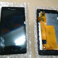 lcd touchscreen + frame sony xperia J st26