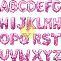 Balon Foil Huruf Pink 40 Cm