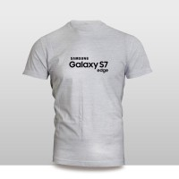 Kaos Baju Pakaian GADGET HANDPHONE Samsung Galaxy S7 Edge FONT murah