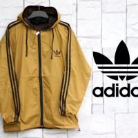 Jaket Parasut Adidas Gold List Hitam (Hoodie-Sport-Jumper) Murah 2016