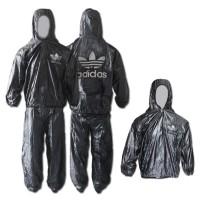 Baju dan Celana sauna ADIDAS - multi fungsi jas hujan - rain coat
