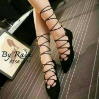gladiator flat shoes sexy sepatu sendal wanita sandal tali balet boot