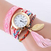 jam tangan gelang pita bulu halus - HHM322 - Pink Muda