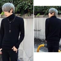 KPOP TURTLENECK baju sweater high turtle neck rajut pria korea bts exo