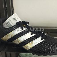 Sepatu Futsal Adidas Ace 16.4 TF Black White Gold original 100%