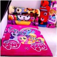 karpet kasur busa murah tebal 6 cm bahan sutra karakter Little Pony