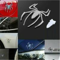 Emblem/Sticker/Stiker/Tempelan 3D Spider/Spiderman Mobil/Car/Motor/HP