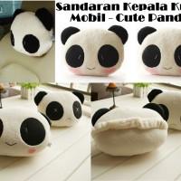 Bantal Sandaran Jok Mobil Kepala Leher Headrest Car Set Panda Lucu