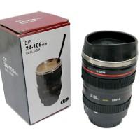 GELAS MUG LENSA Stainless Steel 24-105 MM kamera camera nikon canon