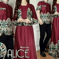 couple alice hitam navy marun baju batik pasangan untuk undangan