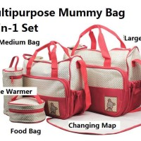 TAS BAYI 5 IN 1 Multifunction baby diaper bag
