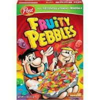 Post Fruity Pebbles Premium Cereal Sereal Topping Import