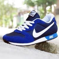 Sepatu Sport Nike Waffle Trainer Biru Putih / Casual / Kets / Joging