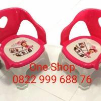 Kursi Anak Pink/Bangku duduk anak (bahan plastik)