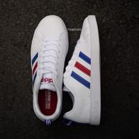 sepatu original adidas neo advantage france putih merah biru