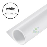 3 METER - BACKGROUND / ALAS FOTO PRODUK - BAHAN PVC WATERPROOF - WHITE