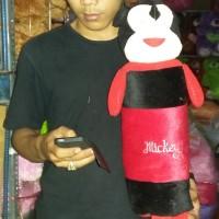 bantal Guling mobil Boneka Mickey miki Mouse merah hitam