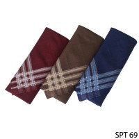Sapu Tangan Isi 3Pcs Katun Multi Color SPT 69