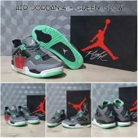 Sepatu Basket Nike Air Jordan IV AJ 4 Green Glow