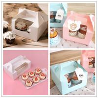 kotak box cupcake set baking tool packing kue birthday cake karton new