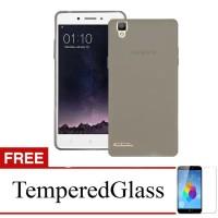 Case for Oppo Find 5 Mini / R827 - Abu-abu + Gratis Tempered Glass - U