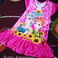 Baju Main Anak SD/ Baju Tidur Karakter/ Daster Frozen