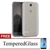 Case for Huawei Honor 3c - Abu-abu + Gratis Tempered Glass - Ultra Thi