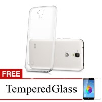 Case for Huawei Honor 3c - Clear + Gratis Tempered Glass - Ultra Thin