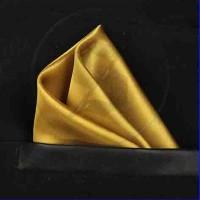 pocket square / sapu tangan saku gold emas silk satin