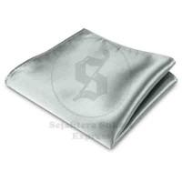 pocket square / sapu tangan saku silver silk satin , ready stock