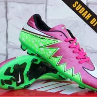 Sepatu Bola-Soccer Nike Hypervenom Skin II FG Pink Hijau Kw Super