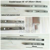 Grendel Tanam / Slot Pintu / 45cm / Flushbolt