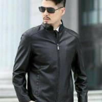 jaket kulit domba 100% asli - Biru, S