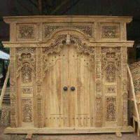 Pintu Rumah Gebyok Ukiran Kayu Jati Design Rumah Joglo Murah
