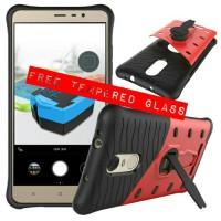 Casing Xiaomi Redmi Note 3 / Pro Armor Robot + Tempered Glass